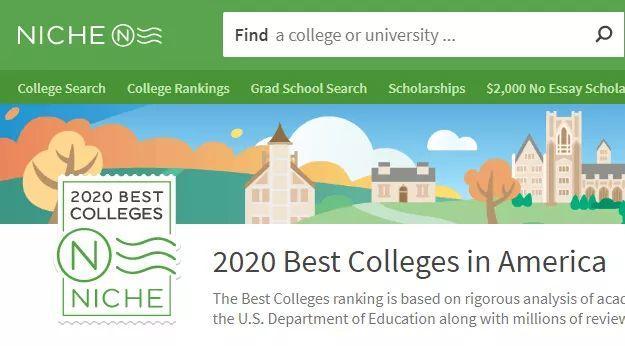真实!2020年Niche美国最佳大学排名发布:MIT第一,CMU不见踪影